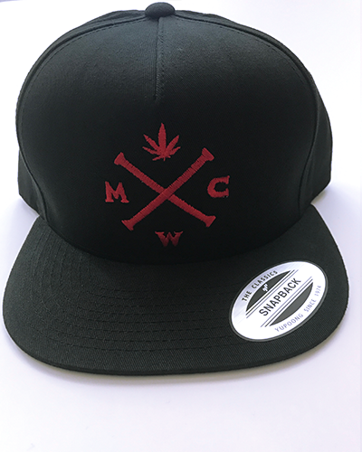 Most West Coast Apparel Black & Red Snapback