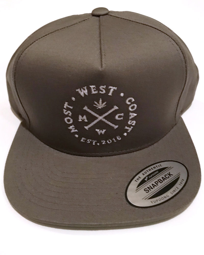 Grey & White Full Graphic Snapback