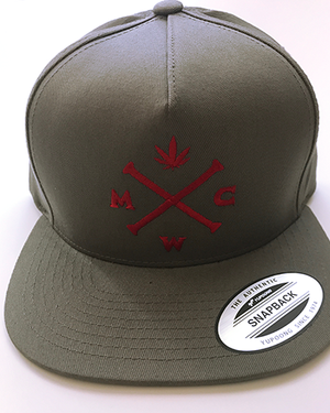 Most West Coast Apparel Grey with Red Snapback