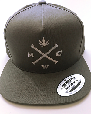 Most West Coast Apparel Grey with White Snapback Hat