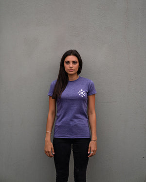 Most West Coast Apparel Women's Purple T-shirt Front