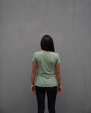 Most West Coast Apparel Women's Green T-shirt Simple Back