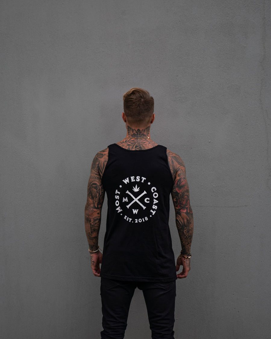 Most West Coast Apparel Men's Black Tank Front