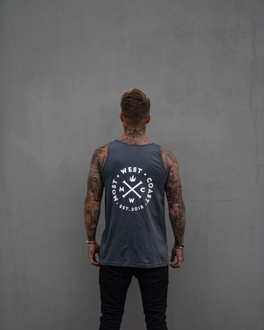 Most West Coast Apparel Men's Grey Tank Front