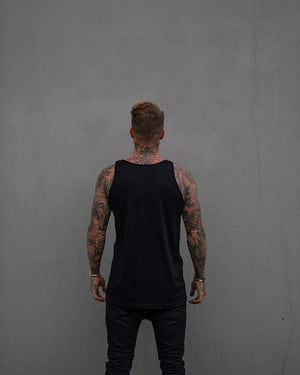 Most West Coast Apparel Men's Black Tank Simple Back