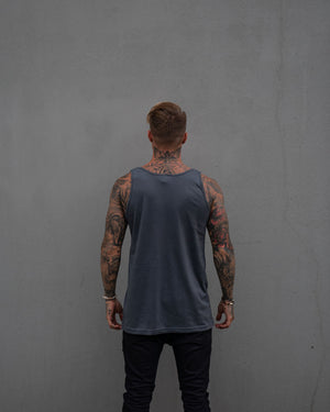 Most West Coast Apparel Men's Grey Tank Simple Back