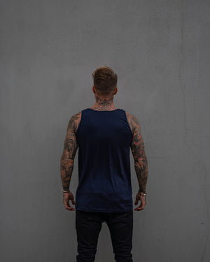 Most West Coast Apparel Men's Navy Tank Simple Back