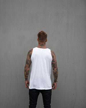 Most West Coast Apparel Men's White Tank Simple Back
