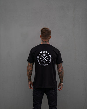 Most West Coast Apparel Men's Black Tee Logo Back