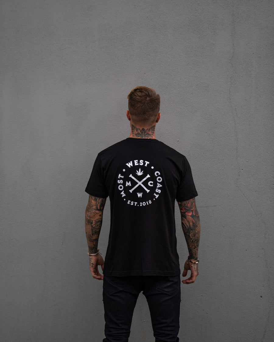 Most West Coast Apparel Men's Black Tee Front