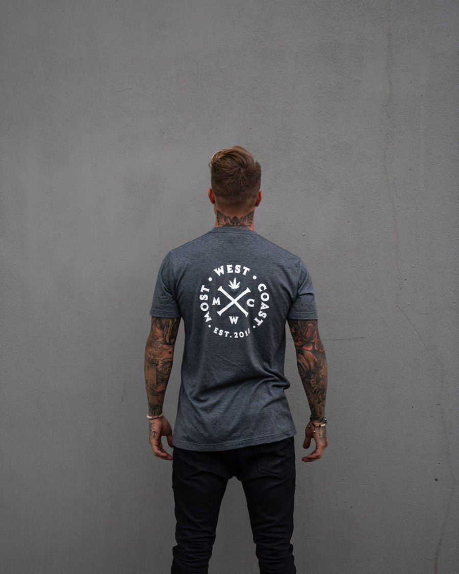 Most West Coast Apparel Men's Grey Tee Front