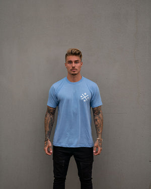 Most West Coast Apparel Men's Blue Tee Front