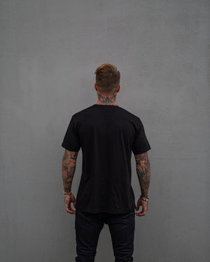 Most West Coast Apparel Men's Black Tee Simple Back