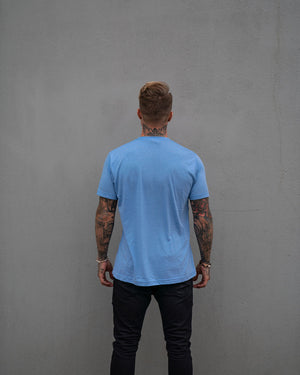 Most West Coast Apparel Men's Blue Tee Simple Back