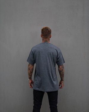Most West Coast Apparel Men's Grey T-shirt simple back