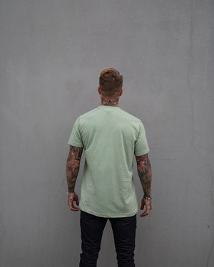Most West Coast Apparel Men's Green Tee simple back