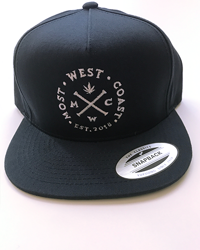 Navy & White Full Logo Snapback