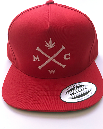 Red & White Simple & Stylish Snapback