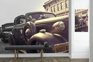oldies car wall wrap and canvas frame by wallzrus decor