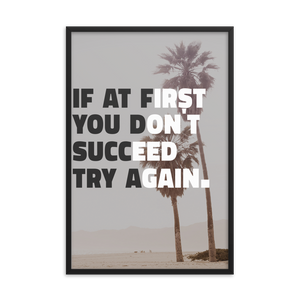 Black Matte Acrylic Frame - Palm Trees Motivation  - Black Matte Frames  - WallzRus Decor