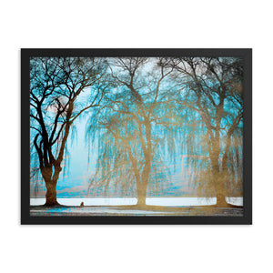 Black Matte Acrylic Frame - Golden Forest