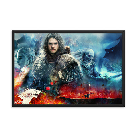 Black Matte Acrylic Frame - Winter is Coming