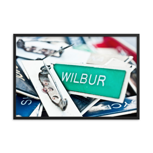 Black Matte Acrylic Frame - Street Signs  - Black Matte Frames  - WallzRus Decor