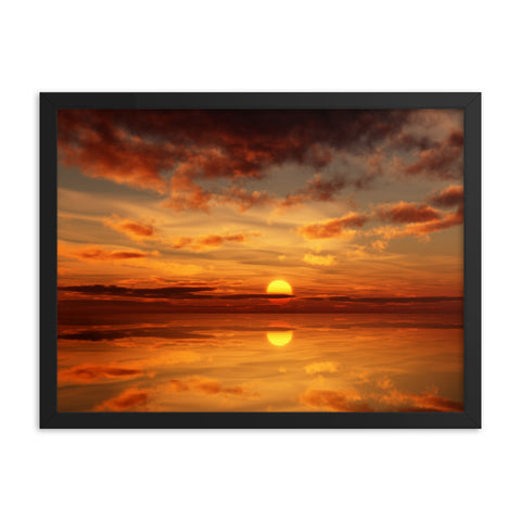 Black Matte Acrylic Frame - Sunset by the Water