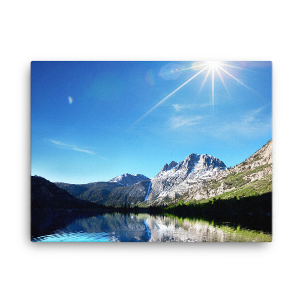 Framed Canvas Print - Gorgeous Mountain Lakeview  - Canvas Prints  - WallzRus Decor