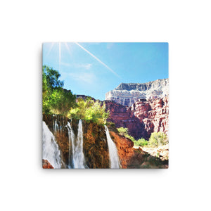 Framed Canvas Print - Eye Catching Waterfall  - Canvas Prints  - WallzRus Decor