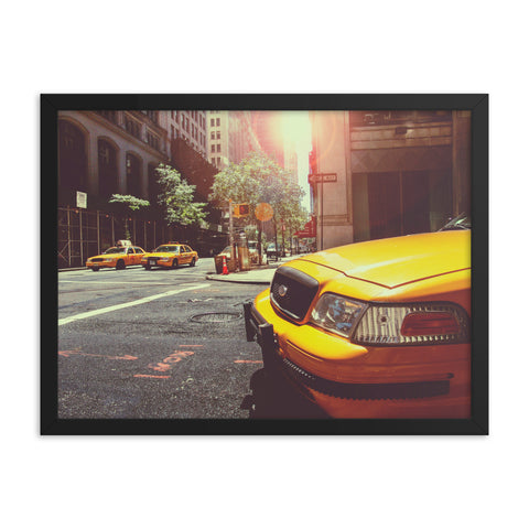 Black Matte Acrylic Frame - New York Cab  - Black Matte Frames  - WallzRus Decor