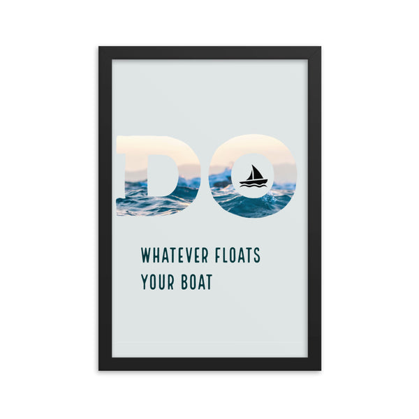 Black Matte Acrylic Frame - Float Your Boat