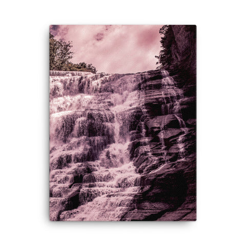 Framed Canvas Print - Waterfall Tint