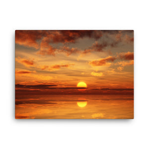 Framed Canvas Print - Sunset by the Water