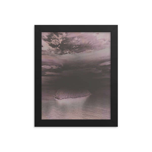 Black Matte Acrylic Frame - Island Abstract Sky view  - Black Matte Frames  - WallzRus Decor