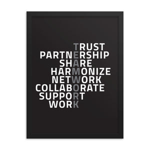Black Matte Acrylic Frame - Teamwork Motivation  - Black Matte Frames  - WallzRus Decor