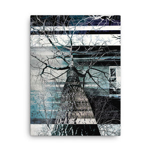 Framed Canvas Print - Abstract Tree Design
