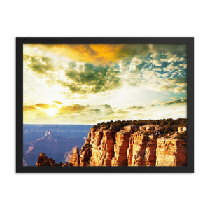 Black Matte Acrylic Frame - Sunset on a Cliff  - Black Matte Frames  - WallzRus Decor
