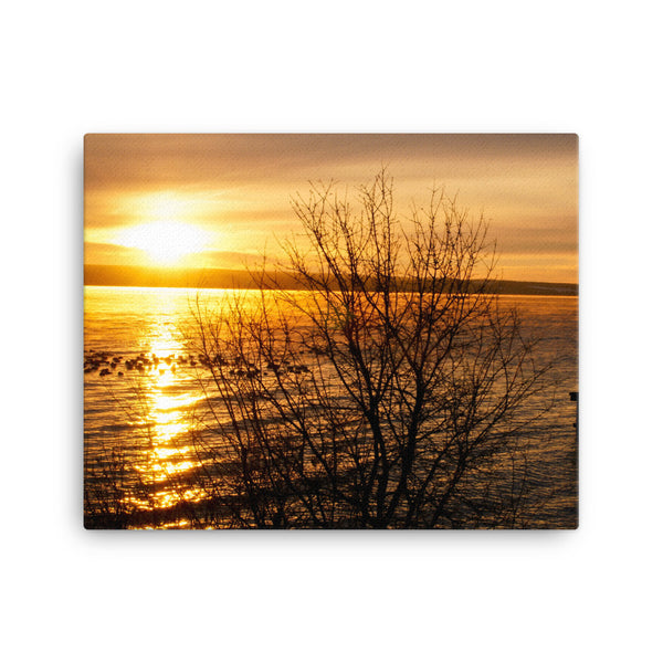 Framed Canvas Print - Sunset by the Lake  - Canvas Prints  - WallzRus Decor