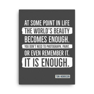 Framed Canvas Print - It Is Enough
