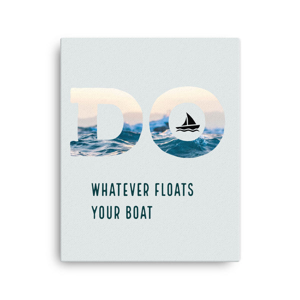 Framed Canvas Print - Float Your Boat