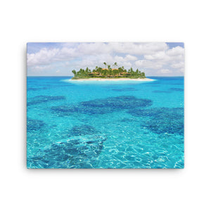 Framed Canvas Print - Stunning Island