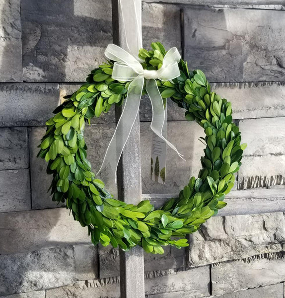 Large Boxwood Wreath With Bow