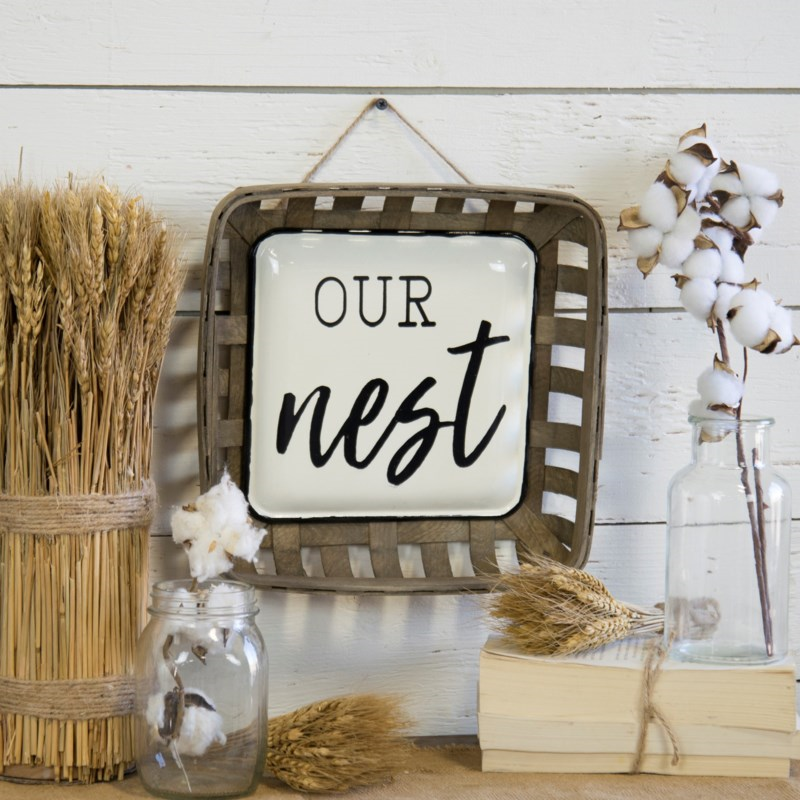 Our Nest Basket Sign - Staged Dwellings