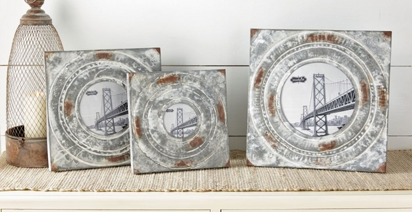Distressed Tin Frames