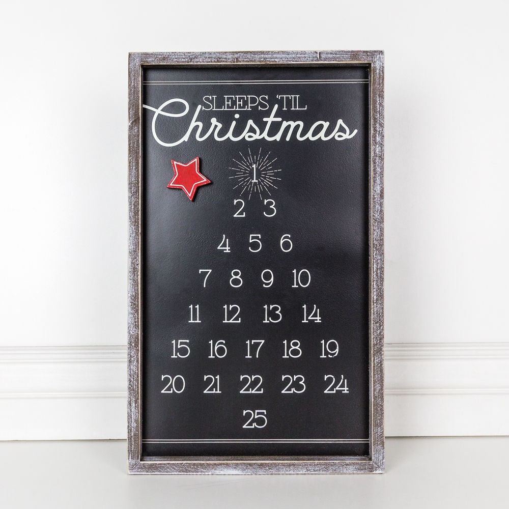 Framed Christmas Tree Countdown