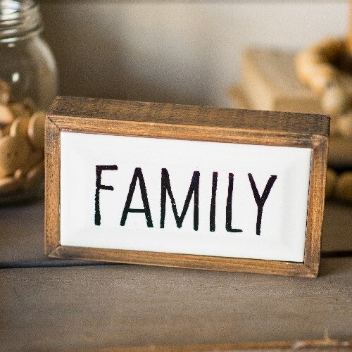 Framed Family Sign