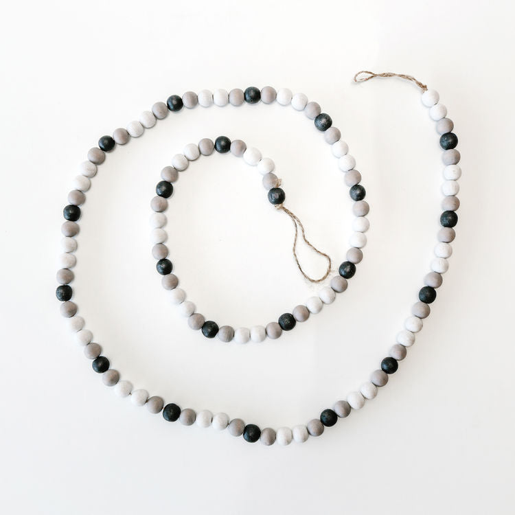 Beaded Garland White, Gray, & Black