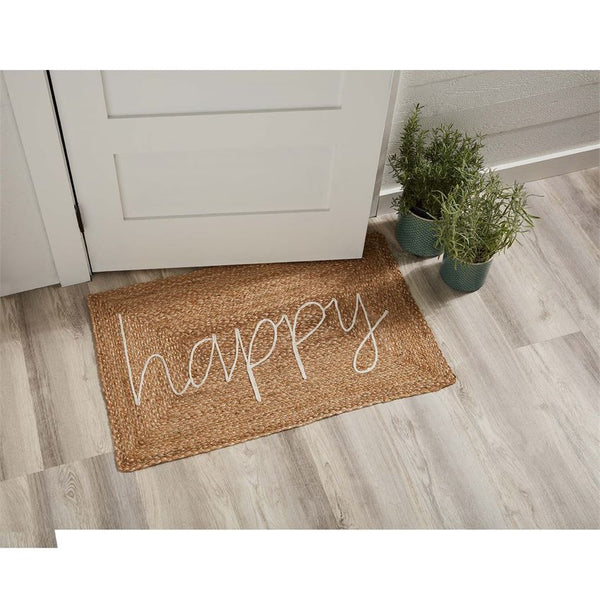 Happy Door Mat