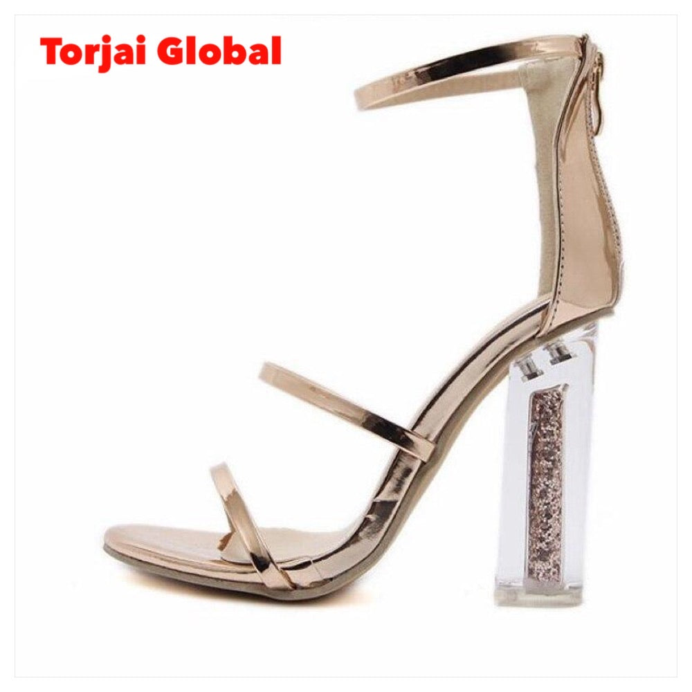 High Quality Transparent Thick High Heels